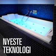 Lysterapibadekar, massagedyser wellnessoplevelse,